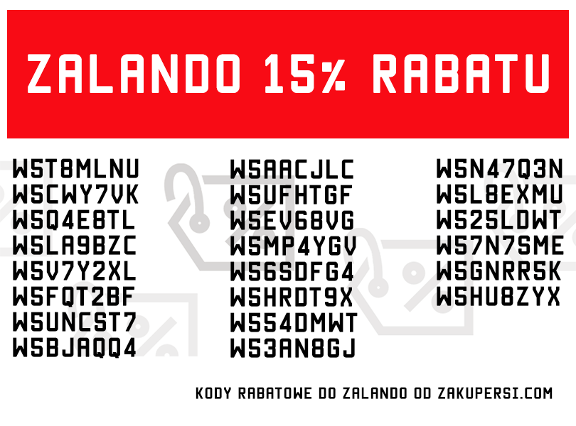 Kody rabatowe Zalando 15% 2015