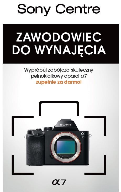 Wypożyczalnia aparatów Sony Alfa