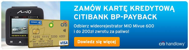 Promocja Citibank - darmowy wideorejestrator i cashback