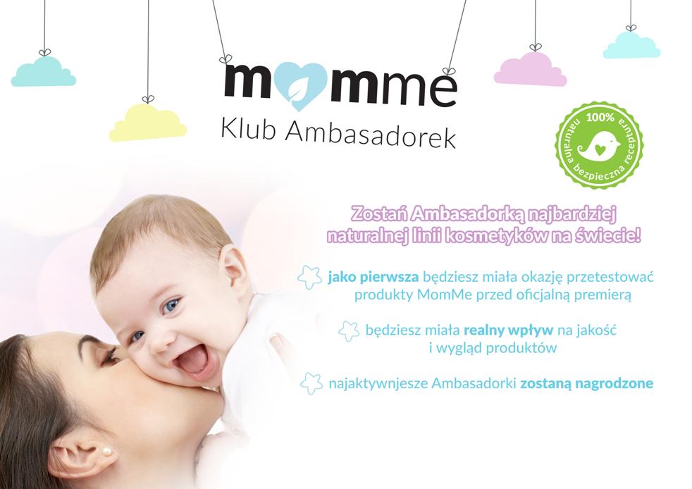 Klub ambasadorek MomMe - darmow kosmetyki dla dzieci