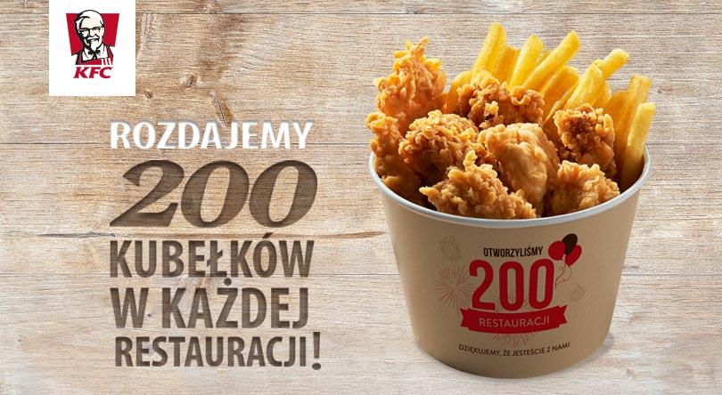 darmowy kubełek w KFC