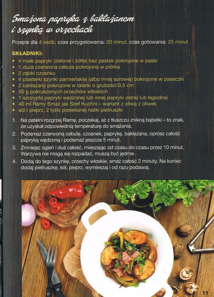 przepis smazona papryka z baklazanem