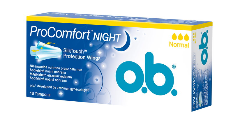 darmowe próbki tamponów OB ProComfort Night Super+ Comfort
