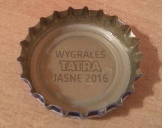 darmowe piwo Tatra w promocji 2016 loteria kapsel