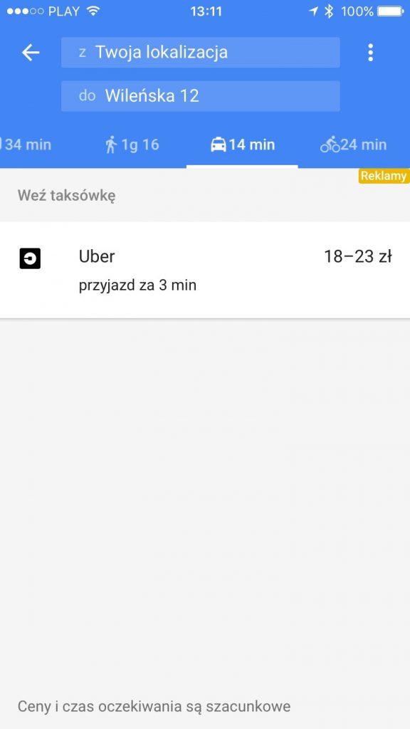 kupon na darmowy przejazd uber