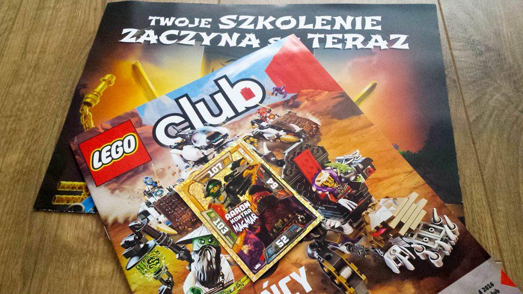 bezpłatny magazyn lego + gra planszowa