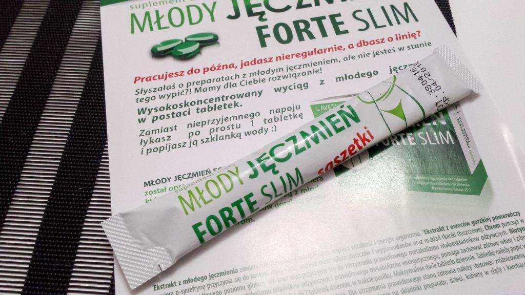 próbki suplementu diety młody jęczmień
