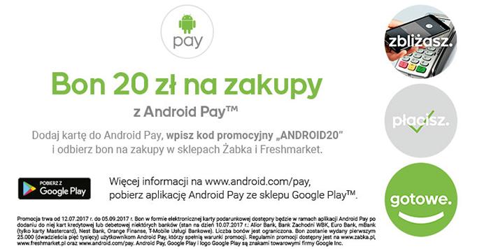 android pay darmowy bon zabka