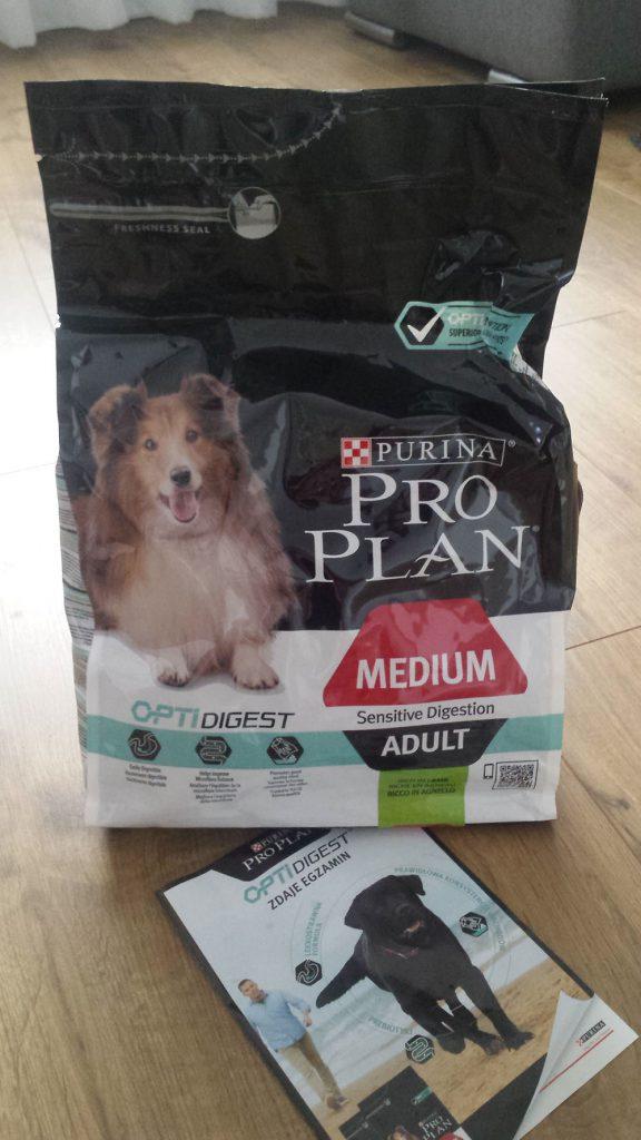 darmowa karma dla psa purina