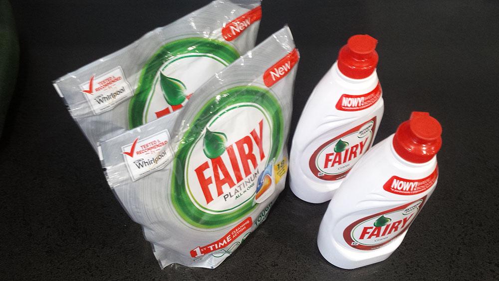 darmowe kapsułki i płyn do zmywania fairy - promocja cash back carrefour