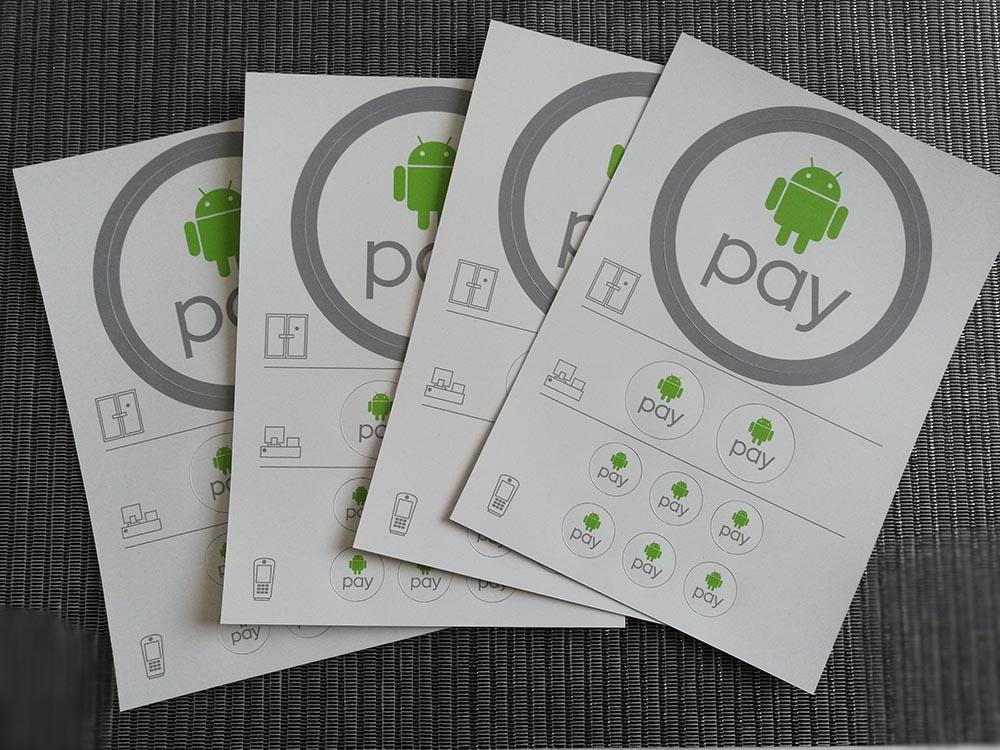 darmowe naklejki android pay
