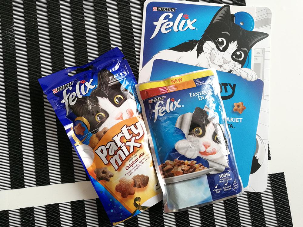próbki karmy dla kota Felix od Purina