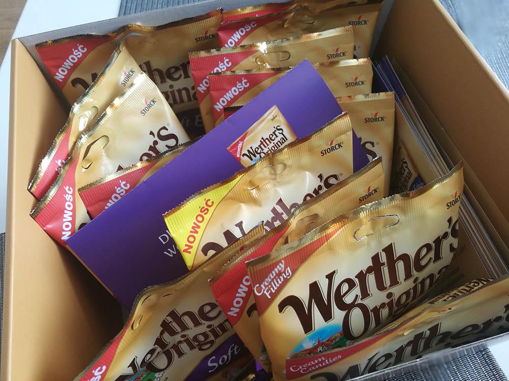 paczka ze słodyczami werthers originals