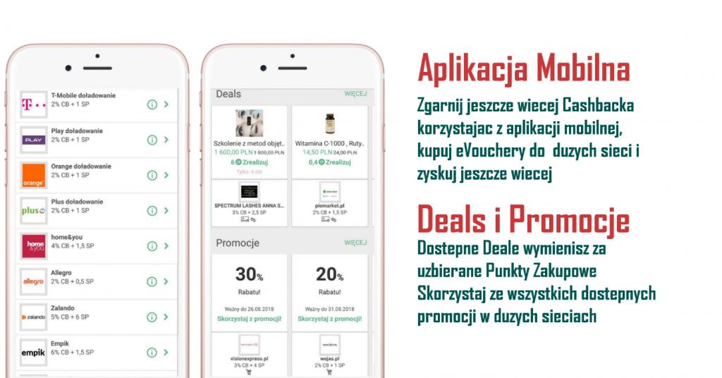 aplikacja mobilna promocje cash back