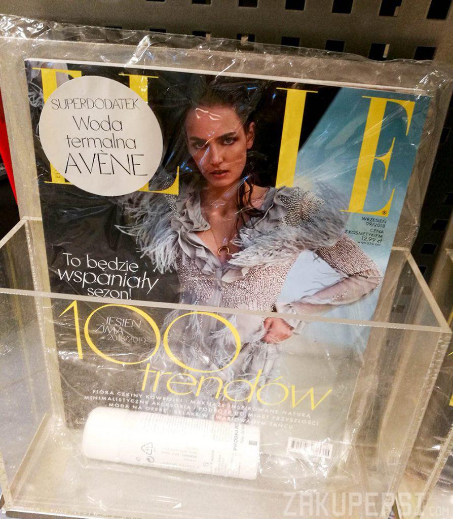 darmowa próbka wody termalnej avene w magazynie elle