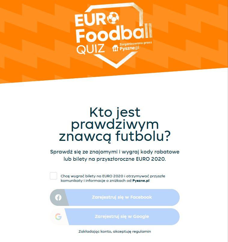 kupon pyszne za rozwiązanie quizu o euro 2020