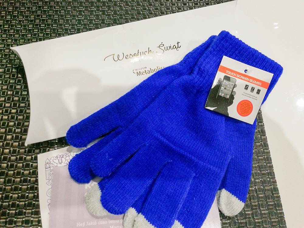 rękawiczki od nutricia - gadżety