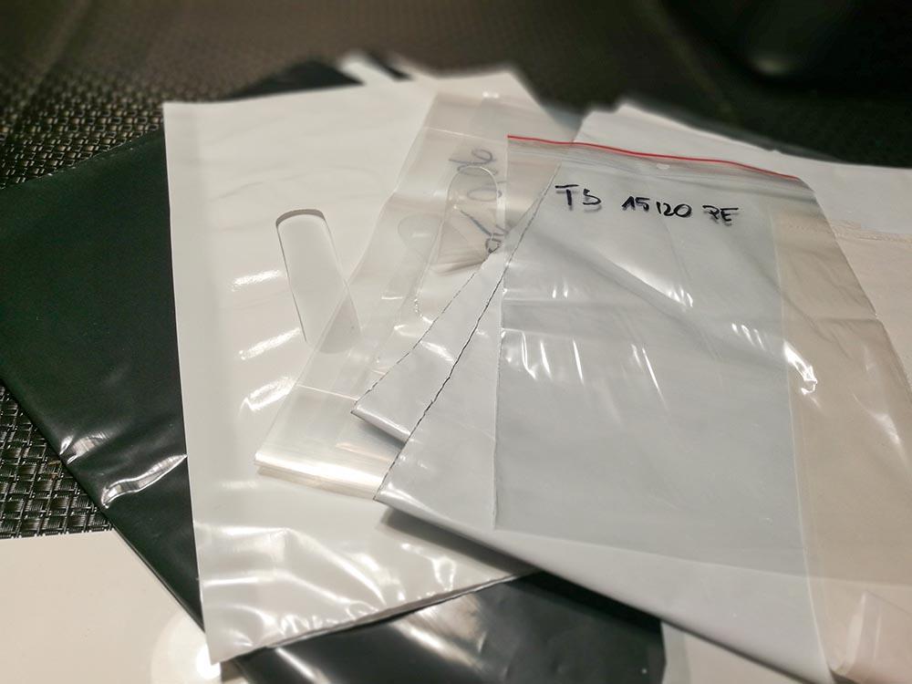 próbki folii do pakowania