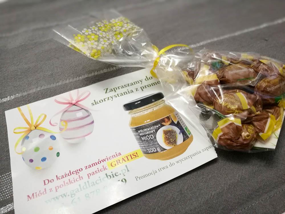 próbki słodyczy propolis od gal