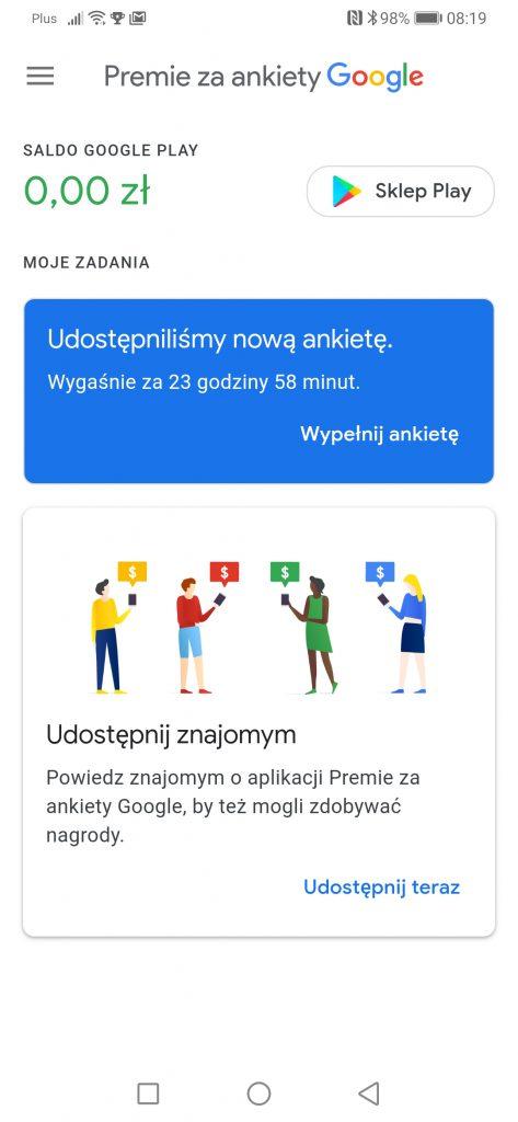 darmowe pieniądze za wypełnianie ankiet od google premia za ankiety