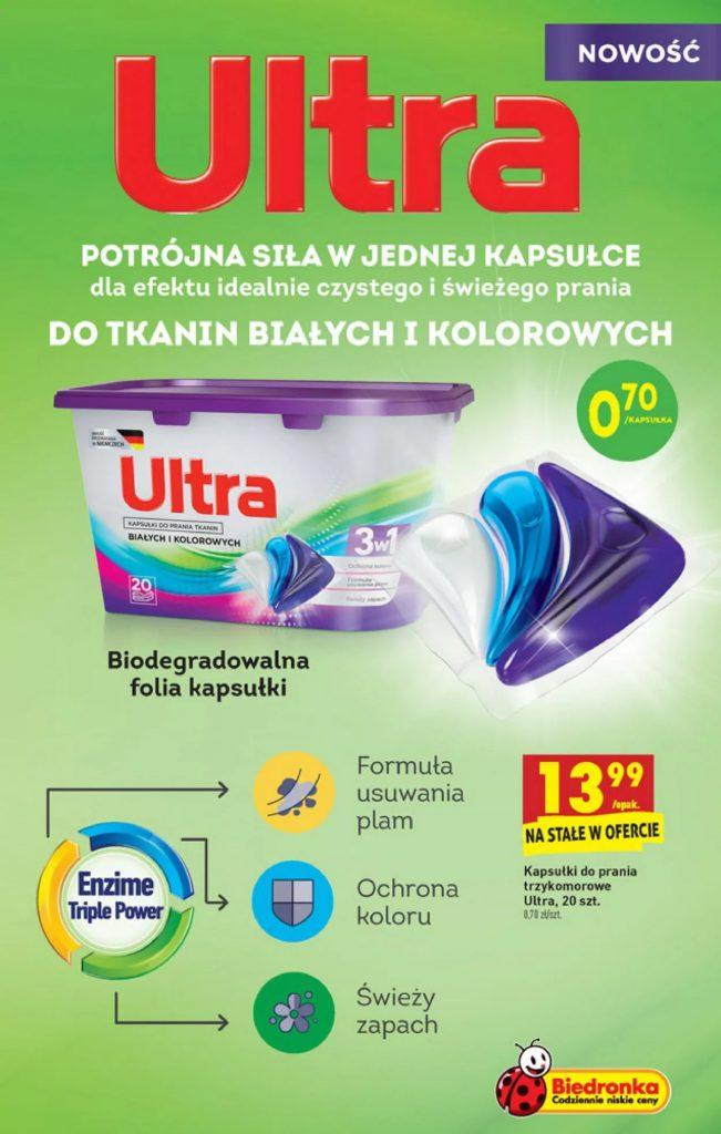darmowe kapsułki do prania ultra w biedronka - promocja