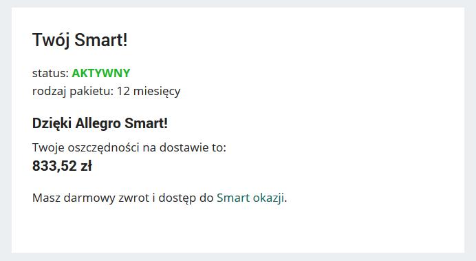 Allegro Smart Zaoszczedzilem Ponad 833 Pln