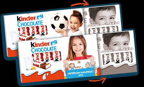 etykiety kinder na słodycze gratis