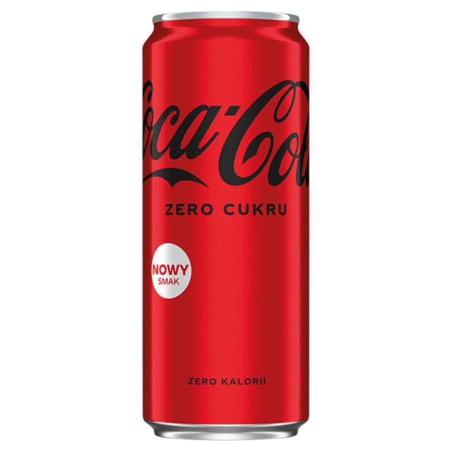 nowe puszki coca cola zero - odbierz darmowy napój w żabce