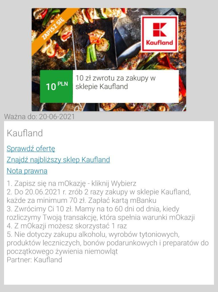 kaufland zakupy zwrot 10 pln