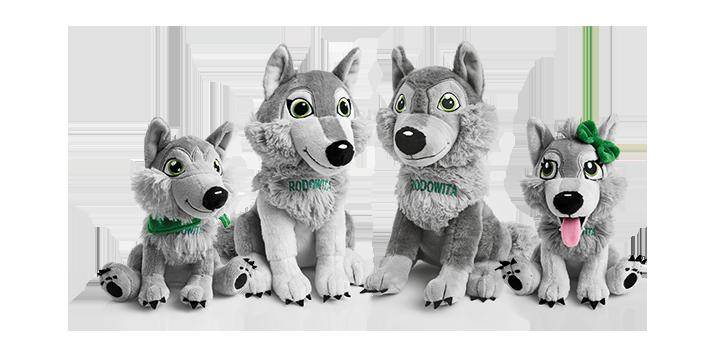 darmowe gadżety wilki maskotki dla dzieci od rodowita