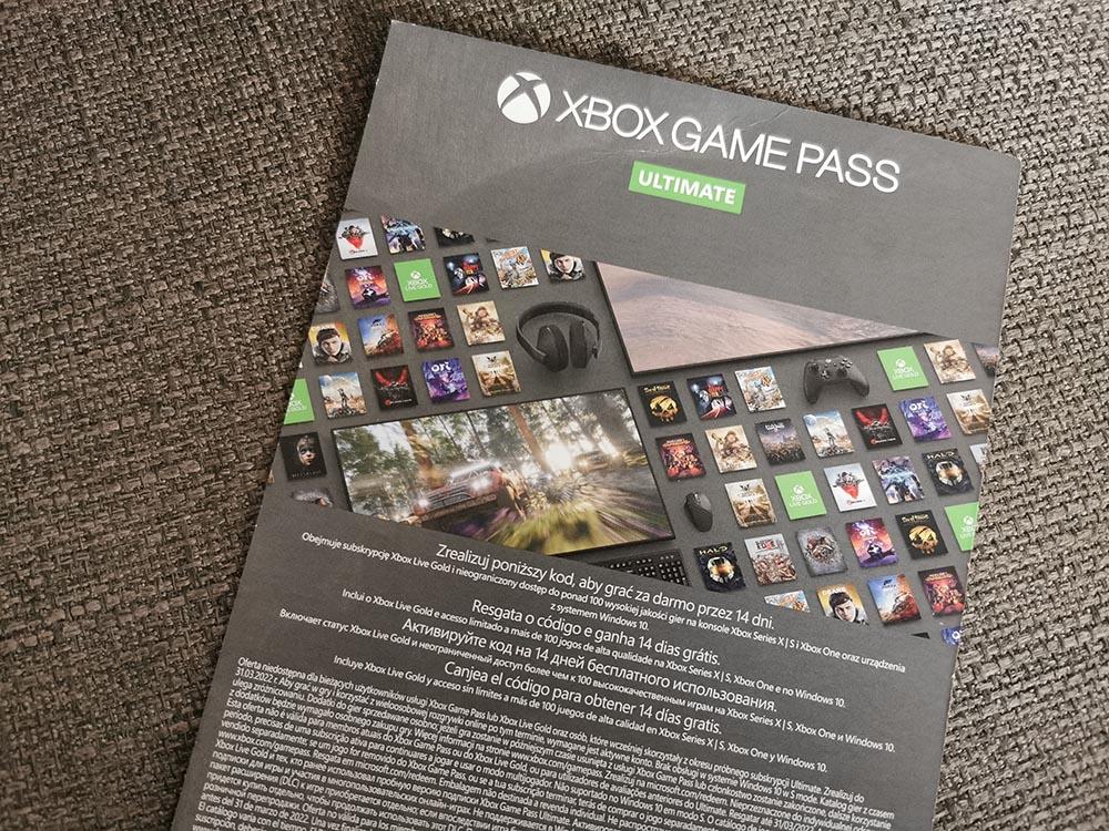 xbox game pass 14 dni za darmo kupon